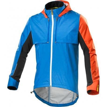 Veste coupe-vent MAVIC Crossmax Ultimate Convertible bleu décor orange et noir