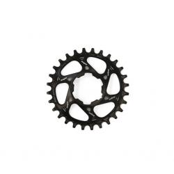 Plateau DM HOPE alu vtt SpiderLess Retainer Ring DM STD 135/142mm 9/10/11/12v noir décor argent