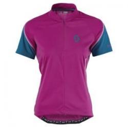 Maillot manches courtes SCOTT femme Endurance violet décor bleu
