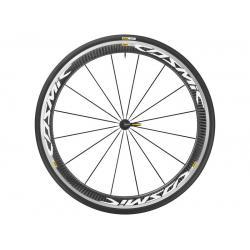 Roue à pneu 700 MAVIC route Cosmic Pro Carbon White 25 carbon décor blanc avant + pneu Yksion Pro 25