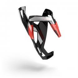 Porte-bidon ELITE nylon route vtt Custom Race noir décor rouge et blanc