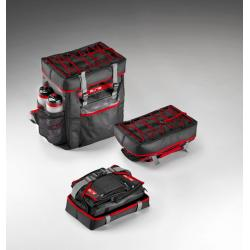 Sac à dos ELITE de rangement Tri Box noir décor gris et rouge
