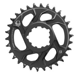 Plateau DM SRAM alu vtt 12v Eagle X-Sync 2 DM Gold Std 135/142 noir décor or