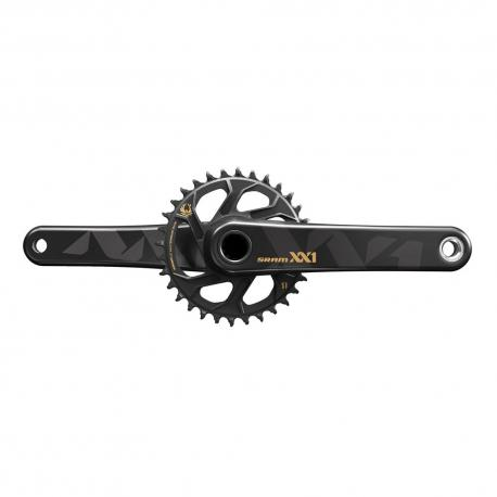 Pédalier SRAM vtt 12v XX1 Eagle Std 135/142 GXP DM 32 Gold noir décor or