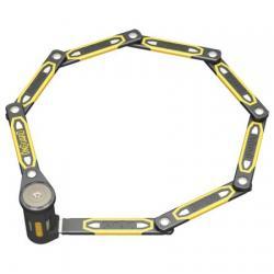 Antivol TRELOCK pliable 8113 K9 noir décor jaune
