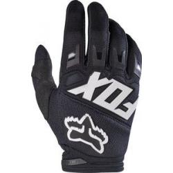 Gants longs FOX enfant Youth Dirtpaw Race noir décor blanc
