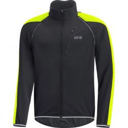 Veste coupe-vent GORE C3 Phantom Windstopper noir décor jaune fluo