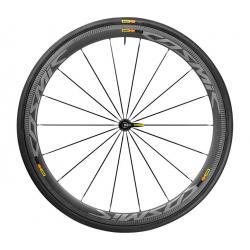 Roue à pneu 700 MAVIC route Cosmic Pro Carbon SLC 25 carbon décor gris avant