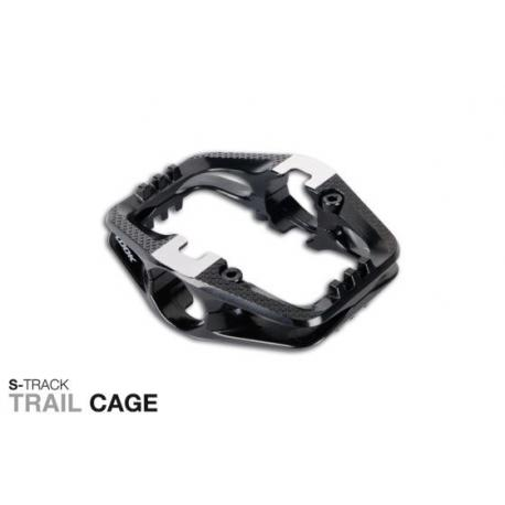 Cages plateforme LOOK alu S-Track Enduro Cages noires pour pédales vtt S-Track