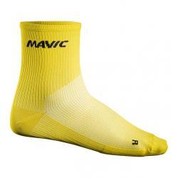 Chaussettes MAVIC Cosmic Mid Sock jaune décor noir