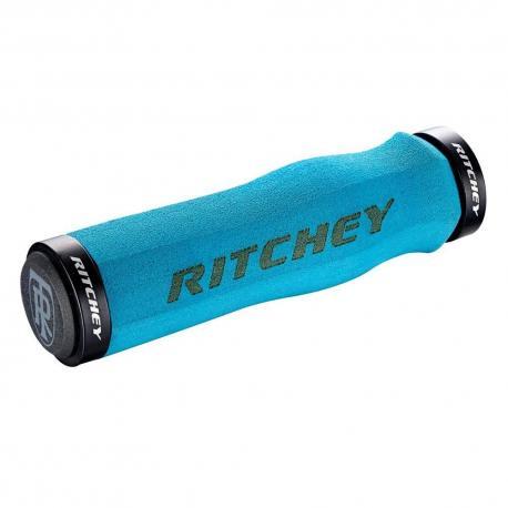 Poignées de guidon RITCHEY mousses vtt WCS Ergo Locking 4 bolts bleue