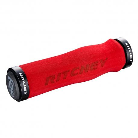 Poignées de guidon RITCHEY mousses vtt WCS Ergo Locking 4 bolts rouge