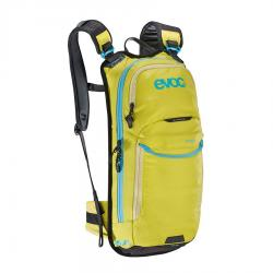 Sac à dos EVOC hydratation all mountain Stage 6L jaune lime décor bleu ciel