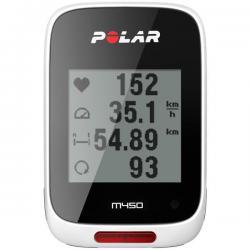 Compteur GPS vélo POLAR M450 HR - Blanc/décor noir