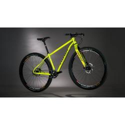 Vélo vtt acier 29p NINER 2016 Sir 9 jaune décor noir et rouge