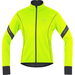 Veste thermique GORE BIKE hiver Power Windstopper SoftShell jaune fluo