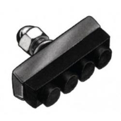 Patins + écrous CLASSIQUE ville support acier caoutchouc noir