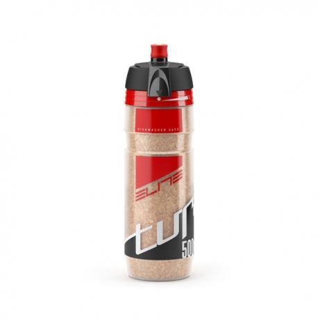 Bidon ELITE résine isotherme Turacio liège 500 clair décor rouge et noir