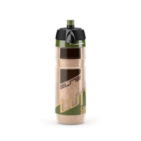 Bidon ELITE résine isotherme Turacio liège 500 clair décor vert et noir