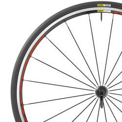 Roue à pneu 700 MAVIC route Ksyrium Red 25 noire décor rouge avant