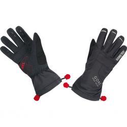 Gants longs GORE BIKE hiver Universal Gore-Tex noir décor rouge