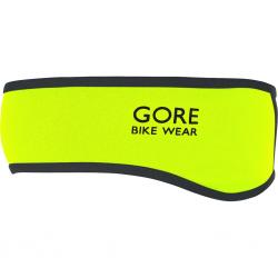 Bandeau GORE BIKE hiver Headband Windstopper SoftShell jaune fluo