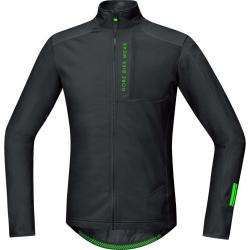 Maillot manches longues GORE BIKE hiver Power Trail Thermo noir décor vert