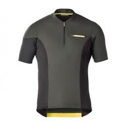 Maillot manches courtes MAVIC XA Pro noir décor jaune