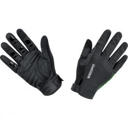 Gants longs GORE BIKE Power Trail Windstopper Light noir décor vert