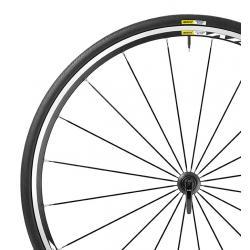 Roue à pneu 700 MAVIC 2016 route Aksium Elite 25 noir décor blanc avant
