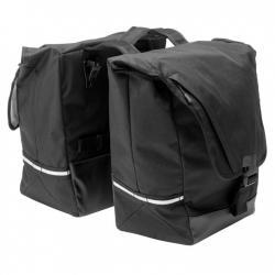 Sacoche BONTRAGER arrière double cavalière Pro Town Double noir sur porte-bagage