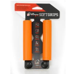 Poignées de guidon TFHPC silicone V2 SoftGrips 30 orange