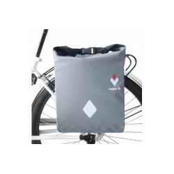 Sacoche HAPO-G arrière latérale Rigide WaterProof 24 étanche noir et argent sur porte-bagage