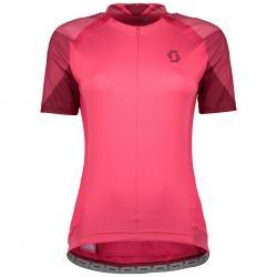 Maillot manches courtes SCOTT femme Endurance 20 rose décor violet