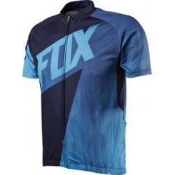 Maillot manches courtes FOX vtt Livewire Race bleu décor noir