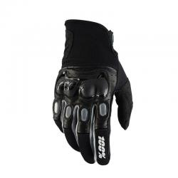 Gants longs 100% vtt Deristricted noir décor gris
