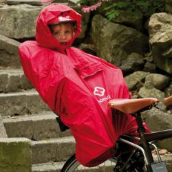 Poncho impermèable HAMAX nylon Enfant rouge