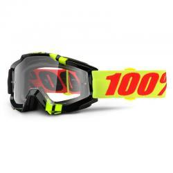 Masque 100% vtt Accuri Zerbo noir verni décor jaune fluo