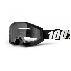 Masque 100% vtt Strata Outlaw noir mat décor blanc