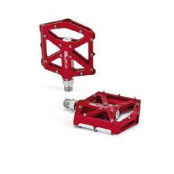 Pédales XLC alu vtt-bmx PD-M12 CNC rouge