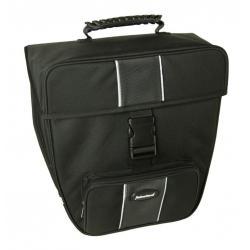 Sacoche HABERLAND arrière simple Grande 16 noir sur porte-bagage