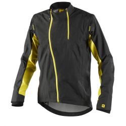 Veste coupe-vent MAVIC Stratos Convertible noir décor jaune