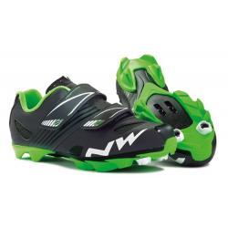 Chaussures NORTHWAVE vtt enfant Hammer Junior noir décor vert fluo