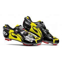 Chaussures SIDI vtt Drako jaune fluo décor noir verni