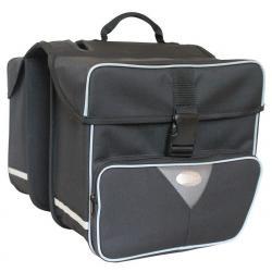 Sacoche HABERLAND arrière double cavalière Grande 31 noir sur porte-bagage