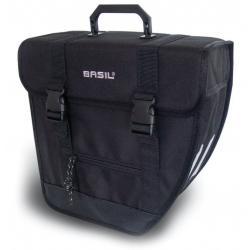Sacoche arrière latérale BASIL polyester Tour Single 600D Gauche noire