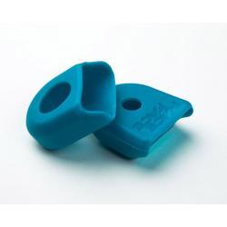 Protection manivelle RACEFACE caoutchouc Etroite Turquoise pour bout de manivelles Alu de pédalier