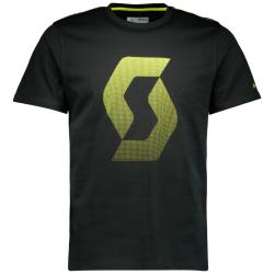 T-shirt manches courtes SCOTT Icon Factory Team noir décor jaune fluo