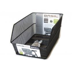 Panier arrière BASIL métal sur porte-bagage Cento WSL à maille serrée noir