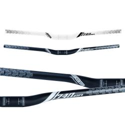 Cintre SB3 alu vtt relevé Flowy En 740 31.8 blanc décor noir